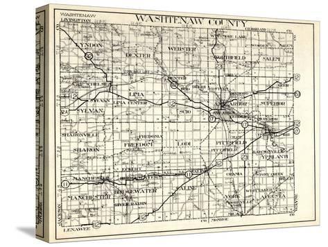 1930, Washtenaw County, Lyndon, Dexter, Webster, Salem, Superior, Ann Arbor, Bridgewater, Saline, M--Stretched Canvas Print