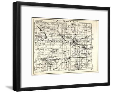 1930, Washtenaw County, Lyndon, Dexter, Webster, Salem, Superior, Ann Arbor, Bridgewater, Saline, M--Framed Art Print
