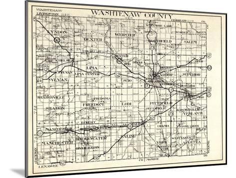 1930, Washtenaw County, Lyndon, Dexter, Webster, Salem, Superior, Ann Arbor, Bridgewater, Saline, M--Mounted Giclee Print