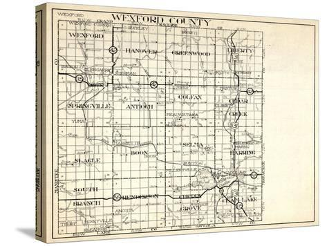 1930, Wexford County, Hanover, Greenwood, Liberty, Springville, antioch, Colfax, Slagle, Boon, Selm--Stretched Canvas Print