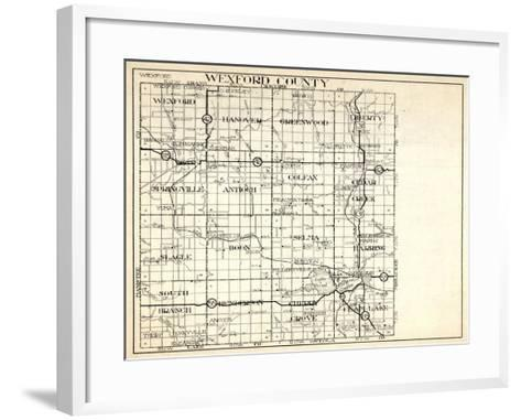 1930, Wexford County, Hanover, Greenwood, Liberty, Springville, antioch, Colfax, Slagle, Boon, Selm--Framed Art Print