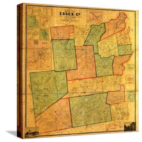 1858, Essex County 1858 Wall Map, New York, United States--Stretched Canvas Print
