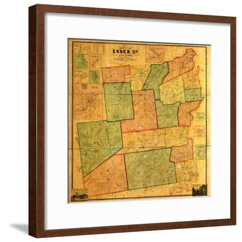 1858, Essex County 1858 Wall Map, New York, United States--Framed Art Print