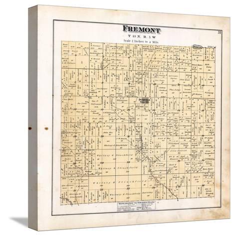 1879, Fremont Township, Dushville, Winn, Pine River, Michigan, United States--Stretched Canvas Print