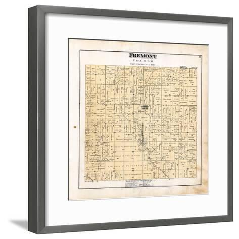 1879, Fremont Township, Dushville, Winn, Pine River, Michigan, United States--Framed Art Print