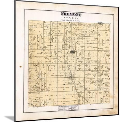 1879, Fremont Township, Dushville, Winn, Pine River, Michigan, United States--Mounted Giclee Print