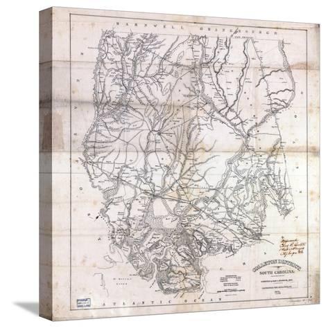 1825, Colleton District surveyed 1820, South Carolina, United States--Stretched Canvas Print