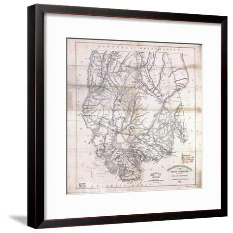 1825, Colleton District surveyed 1820, South Carolina, United States--Framed Art Print