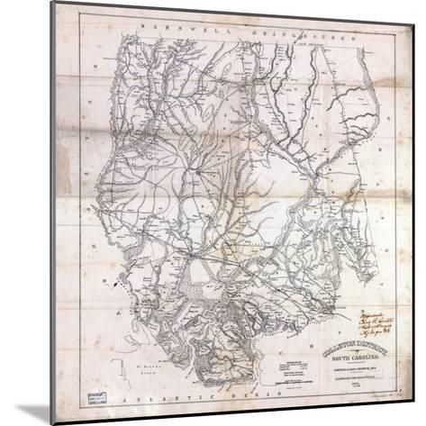 1825, Colleton District surveyed 1820, South Carolina, United States--Mounted Giclee Print