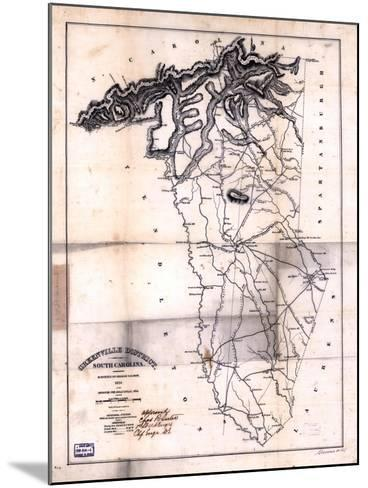 1825, Greenville District surveyed 1820, South Carolina, United States--Mounted Giclee Print