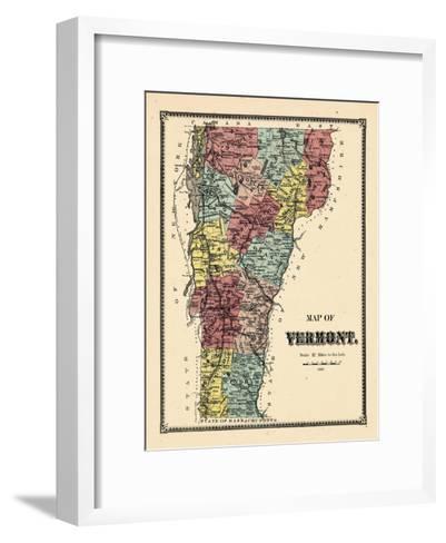1869, Vermont, Vermont, United States--Framed Art Print