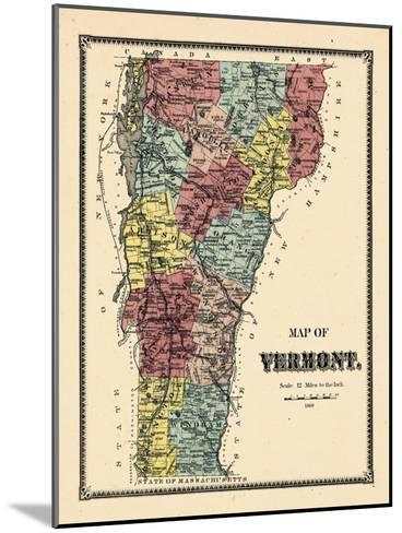 1869, Vermont, Vermont, United States--Mounted Giclee Print
