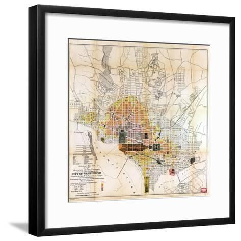 1891, Valuation of Real Property, District of Columbia, United States--Framed Art Print