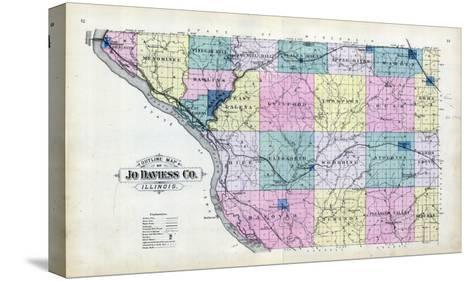 1893, Jo Daviess County Map, Illinois, United States--Stretched Canvas Print