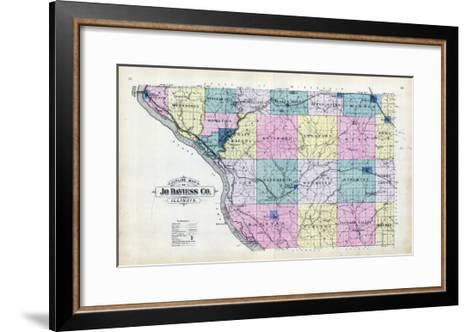 1893, Jo Daviess County Map, Illinois, United States--Framed Art Print