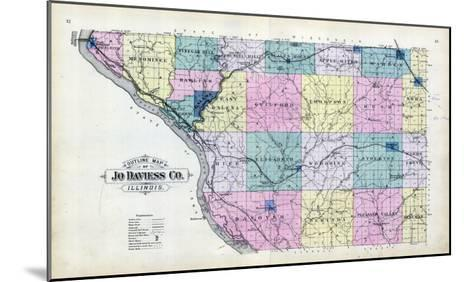 1893, Jo Daviess County Map, Illinois, United States--Mounted Giclee Print