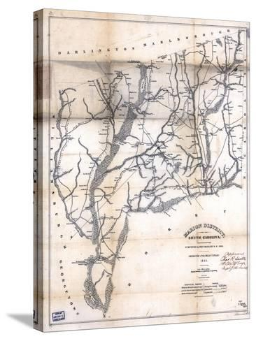 1825, Marion District surveyed 1818, South Carolina, United States--Stretched Canvas Print