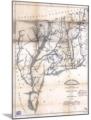1825, Marion District surveyed 1818, South Carolina, United States--Mounted Giclee Print