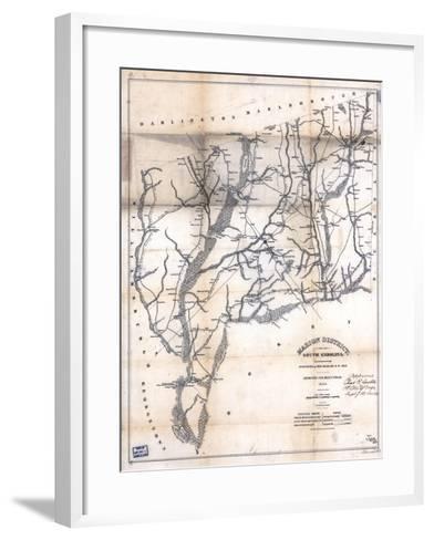 1825, Marion District surveyed 1818, South Carolina, United States--Framed Art Print