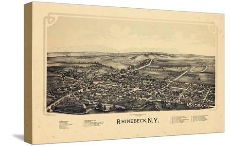 1890, Rhinebeck 1890 Bird's Eye View, New York, United States--Stretched Canvas Print