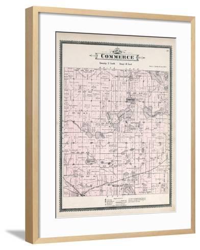 1896, Commerce Township, Loon Lake, Union Lake, Huron River, Walled Lake, Wixom, Michigan, United S--Framed Art Print