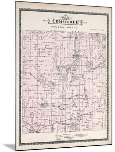 1896, Commerce Township, Loon Lake, Union Lake, Huron River, Walled Lake, Wixom, Michigan, United S--Mounted Giclee Print