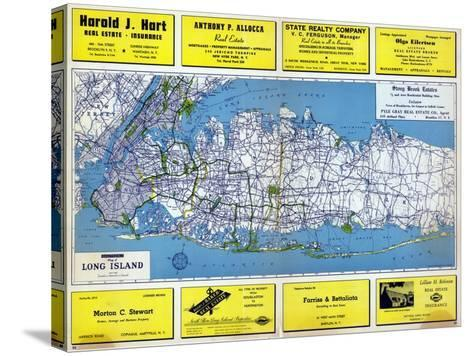 1946, Long Island Plate 1, New York, United States--Stretched Canvas Print