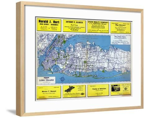 1946, Long Island Plate 1, New York, United States--Framed Art Print