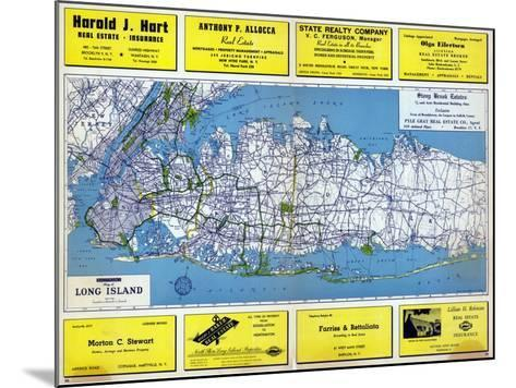 1946, Long Island Plate 1, New York, United States--Mounted Giclee Print