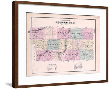 1875, Holmes County Map, Ohio, United States--Framed Art Print