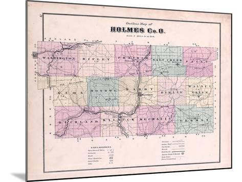 1875, Holmes County Map, Ohio, United States--Mounted Giclee Print