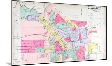 1906, Edwardsville - North, Illinois, United States--Mounted Giclee Print