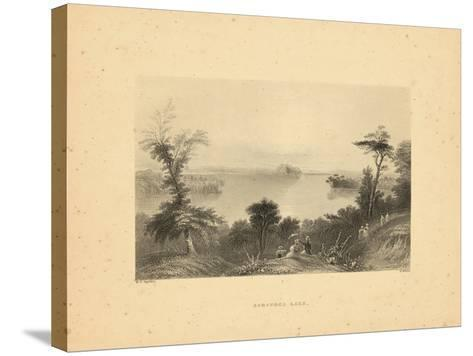 1840, Saratoga Lake 1840 View, New York, United States--Stretched Canvas Print