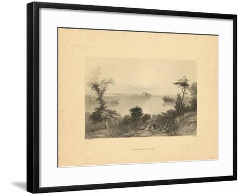1840, Saratoga Lake 1840 View, New York, United States--Framed Art Print