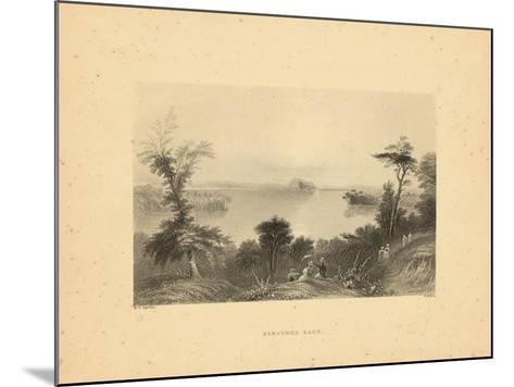 1840, Saratoga Lake 1840 View, New York, United States--Mounted Giclee Print