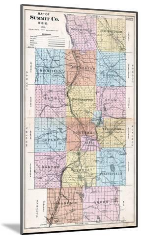1891, Summit County Map, Ohio, United States--Mounted Giclee Print
