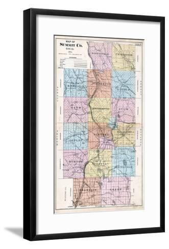 1891, Summit County Map, Ohio, United States--Framed Art Print