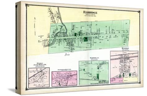 1874, Elbridge, Peru, Skaneateles Junction, Warners P.O., Memphis, New York, United States--Stretched Canvas Print