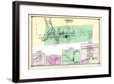 1874, Elbridge, Peru, Skaneateles Junction, Warners P.O., Memphis, New York, United States--Framed Art Print