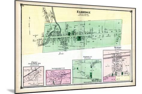 1874, Elbridge, Peru, Skaneateles Junction, Warners P.O., Memphis, New York, United States--Mounted Giclee Print