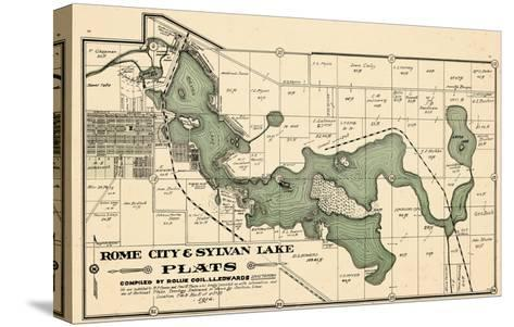 1914, Rome City and Sylvan Lake, Indiana, United States--Stretched Canvas Print