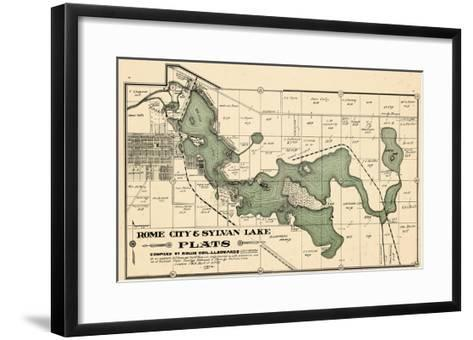 1914, Rome City and Sylvan Lake, Indiana, United States--Framed Art Print