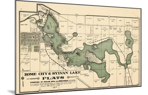 1914, Rome City and Sylvan Lake, Indiana, United States--Mounted Giclee Print
