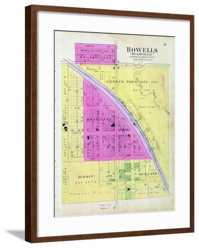 1899, Howells, Bushville, Nebraska, United States--Framed Art Print
