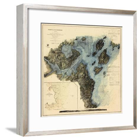 1862, Portland Harbor Chart, Maine--Framed Art Print