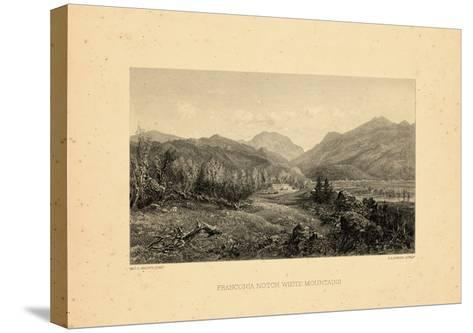 1859, Franconia Notch View, New Hampshire, United States--Stretched Canvas Print