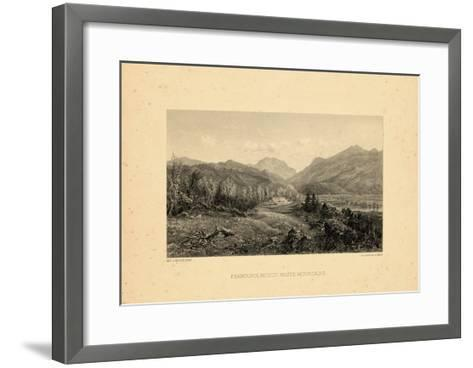 1859, Franconia Notch View, New Hampshire, United States--Framed Art Print