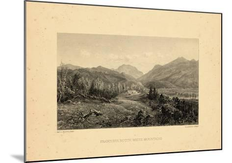 1859, Franconia Notch View, New Hampshire, United States--Mounted Giclee Print