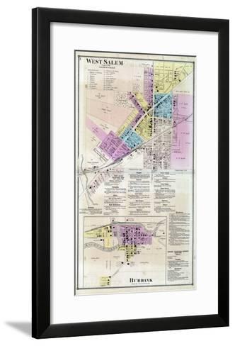 1873, West Salem, Burbank, Ohio, United States--Framed Art Print