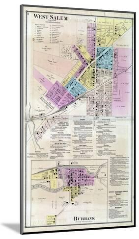 1873, West Salem, Burbank, Ohio, United States--Mounted Giclee Print